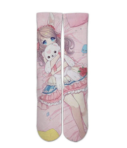 Anime elite printed crew socks - DopeSoxOfficial