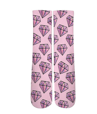 Cool socks-Diamond pattern print socks