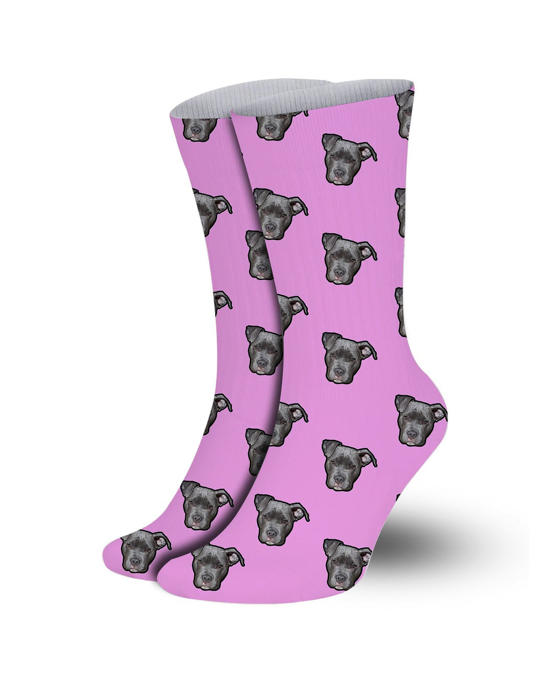 Customized Pet socks- Pink background-Print your pet
