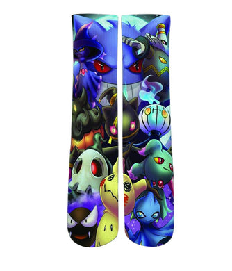 Cartoon Socks - Pokemon mash up printed crew socks