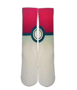 Pokeball plus printed crew socks - DopeSoxOfficial