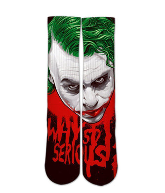Joker why so serious printed crew socks - DopeSoxOfficial
