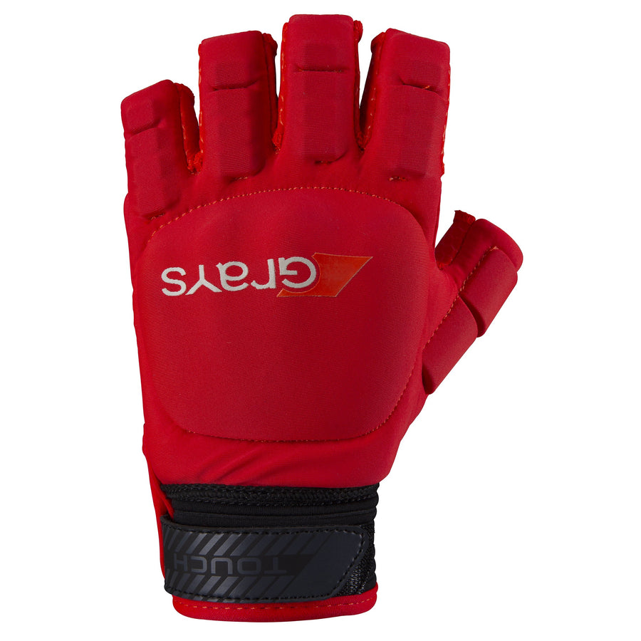 2600 HGFA19 6208905 Glove Touch Fluo Red Left Hand Back