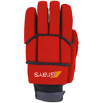 2600 HGBA20 6210805 Glove Proflex 1000 Black & Fluoro Red, Back