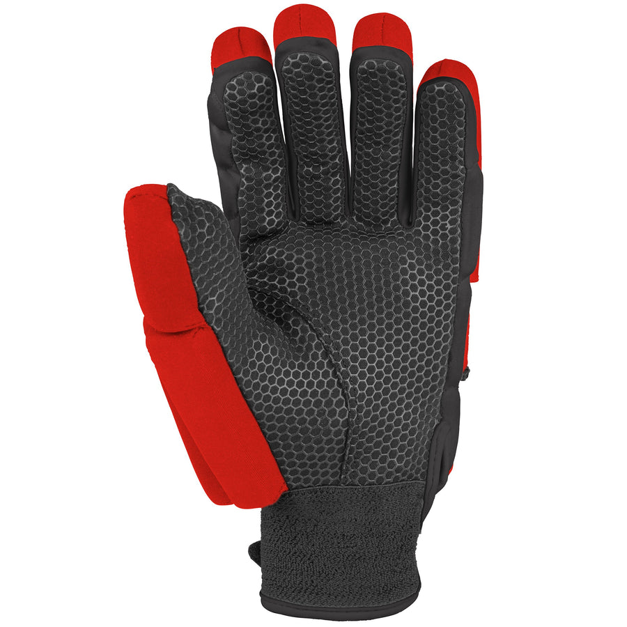 2600 HGBA20 6210805 Glove Proflex 1000 Black & Fluoro Red, Palm