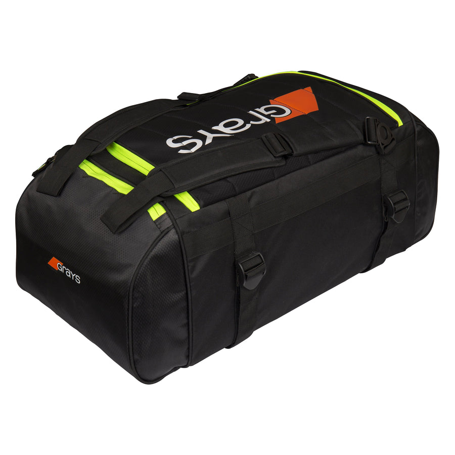 2600 HHBA19 6603402 GR800 Holdall Black Yellow, Back