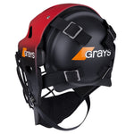 2600 HWCB20 924105 Goal Keeper Helmet G600 Red & Black, Back