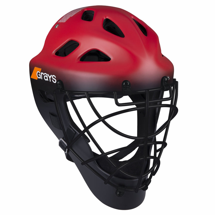 2600 HWCB20 924105 Goal Keeper Helmet G600 Red & Black Front