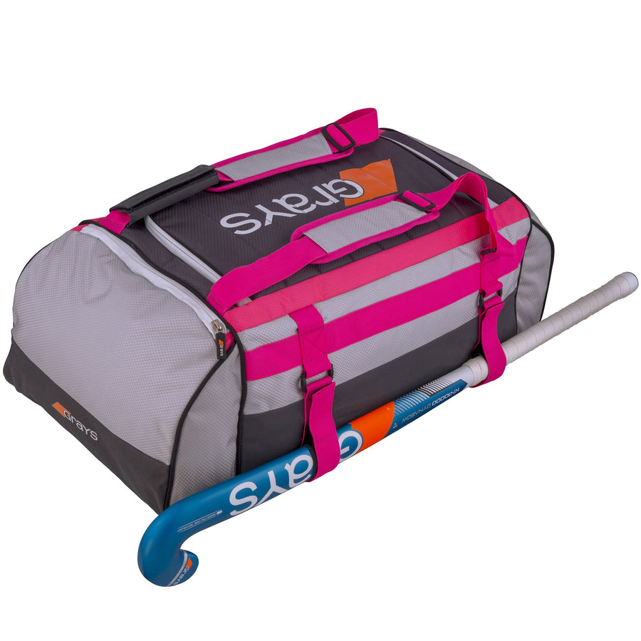 2600 6603401 HOLDALL GR800 GREY_SIL_PINK WITH STICK