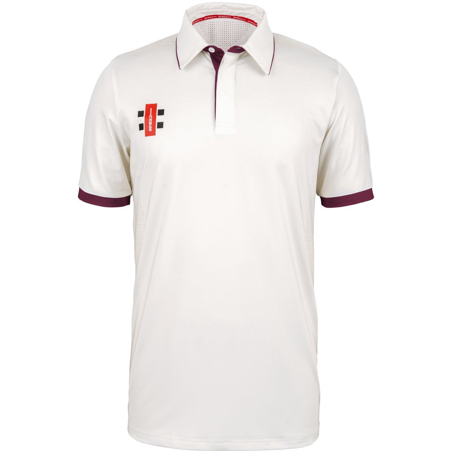 CCAB18Shirt Pro Performance Maroon S_s, Front