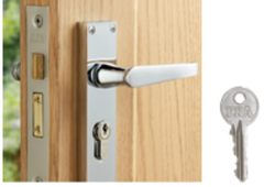 Mortice sash deadlock with euro cylinder key