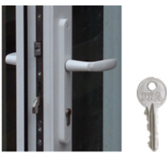 Multipoint deadlock with euro cylinder key