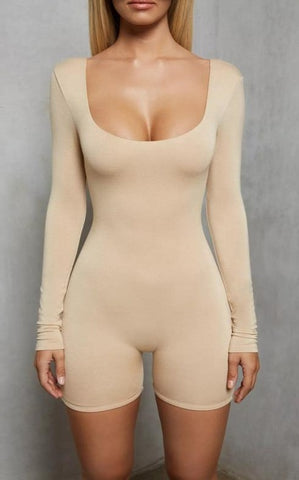 Solid Color Long Sleeve Bodysuit