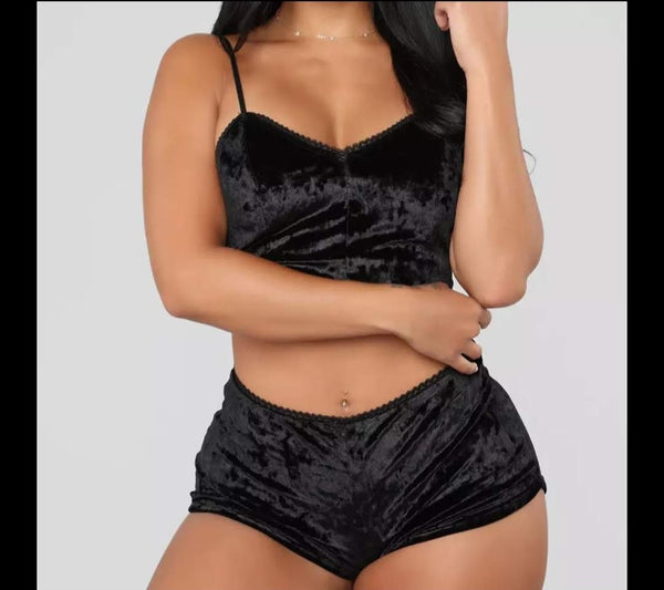 Sexy Velvet 2 Piece PJ Set