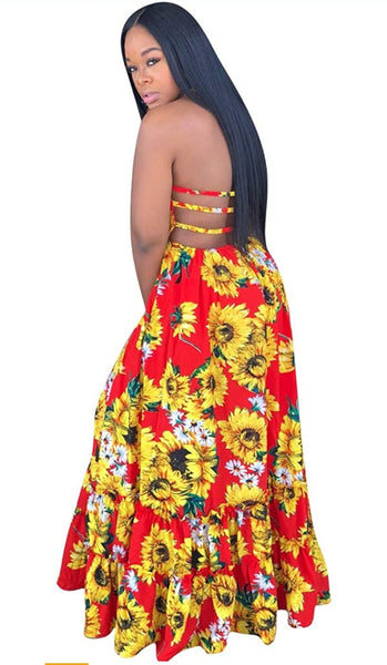 Sunflower Maxi Dress