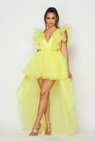 High Low Tulle Dress