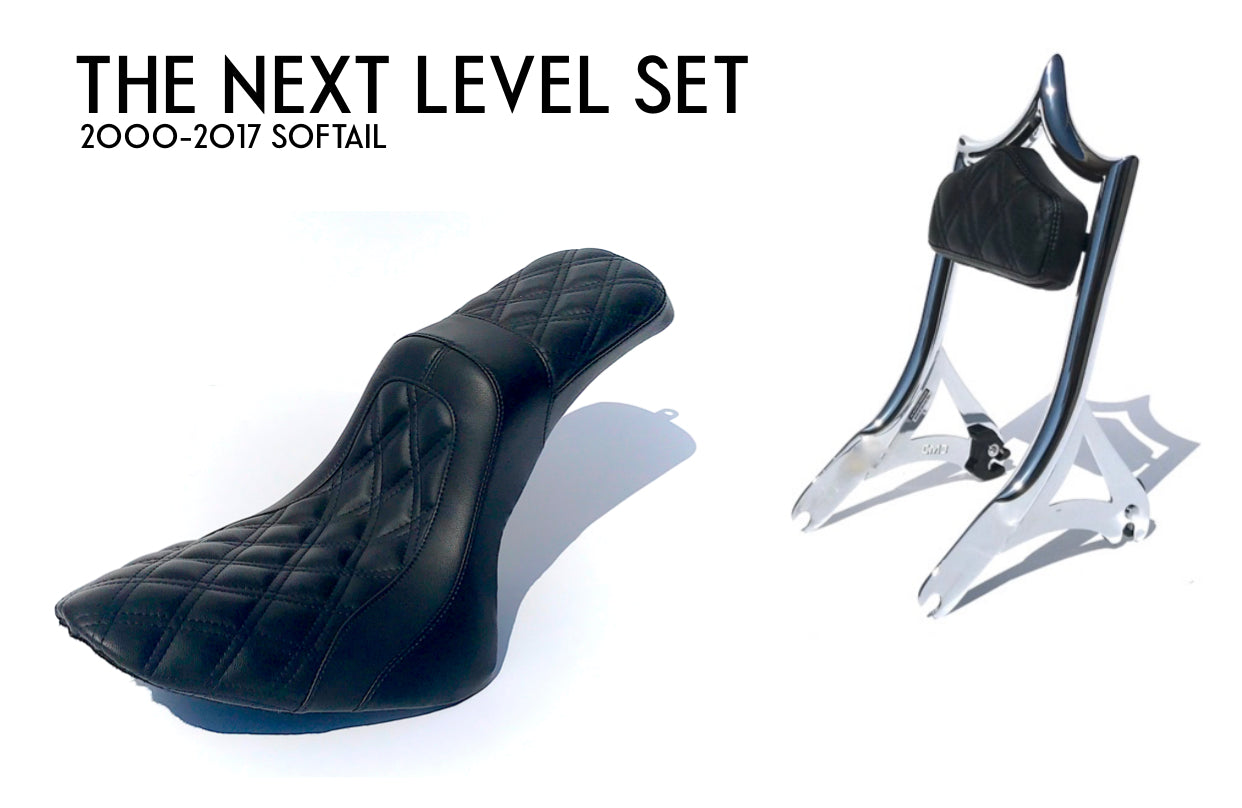 THE NEXT LEVEL SET (SOFTAIL) EL REY BACKREST and 2UP SEAT