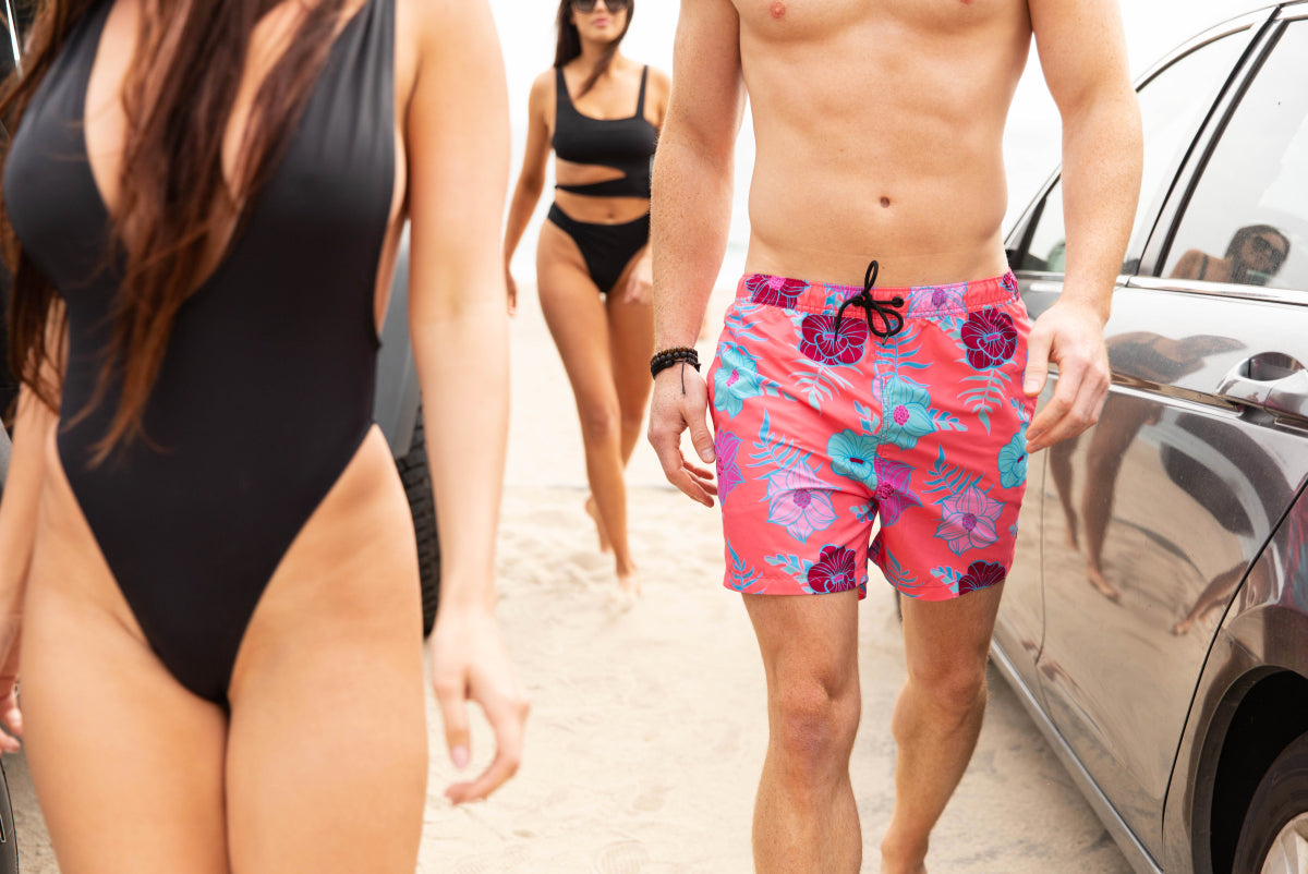 The Funky Floras Men's Swim Shorts