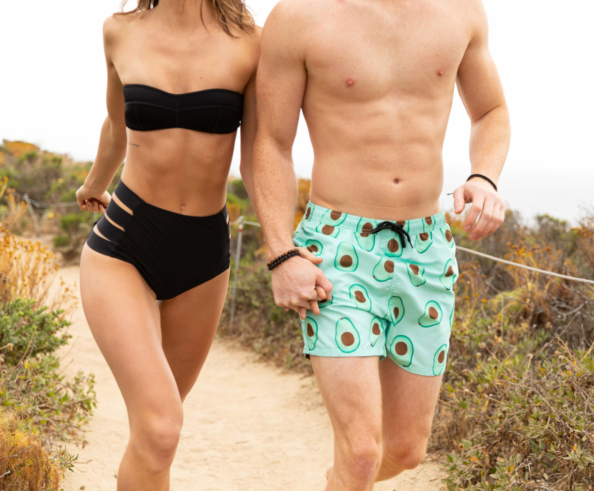 The Hold My Avocados Men's Swim Trunks