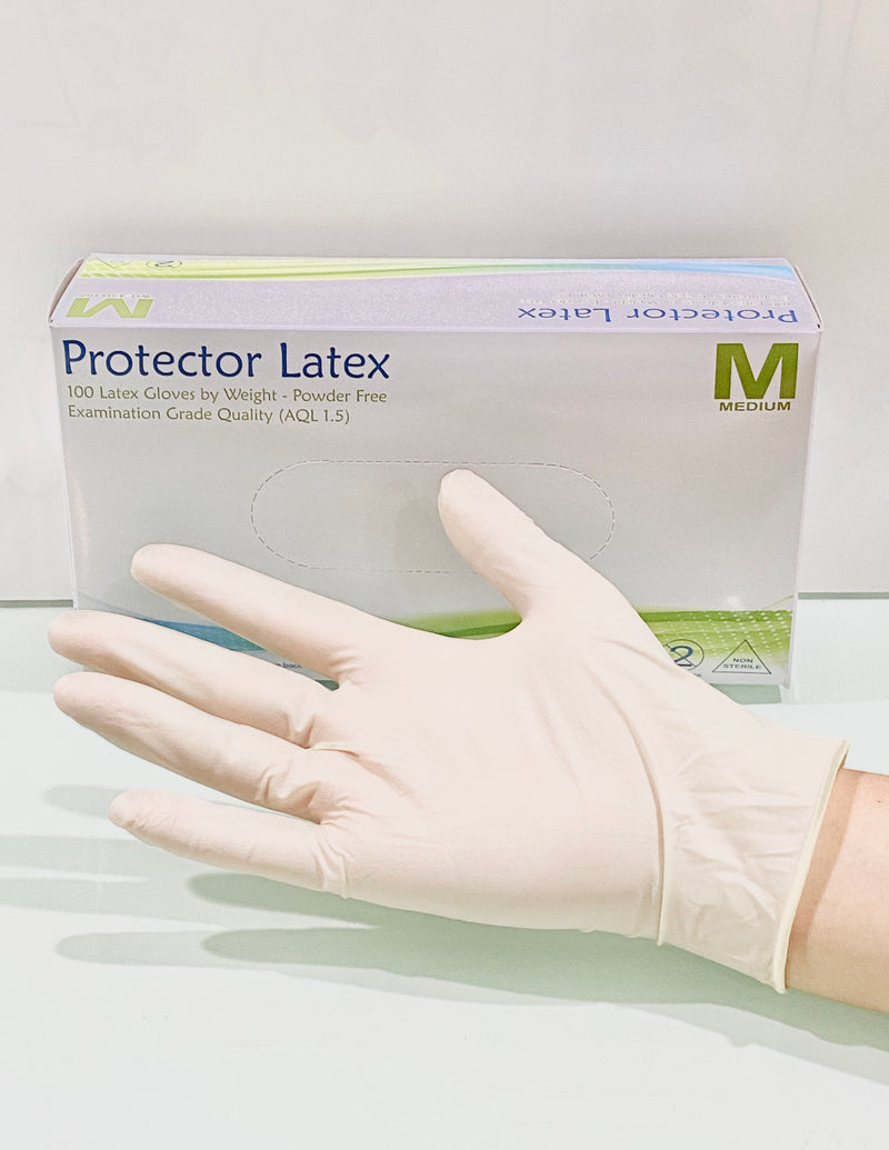 Powder Free Latex Gloves (Box of 100pcs)