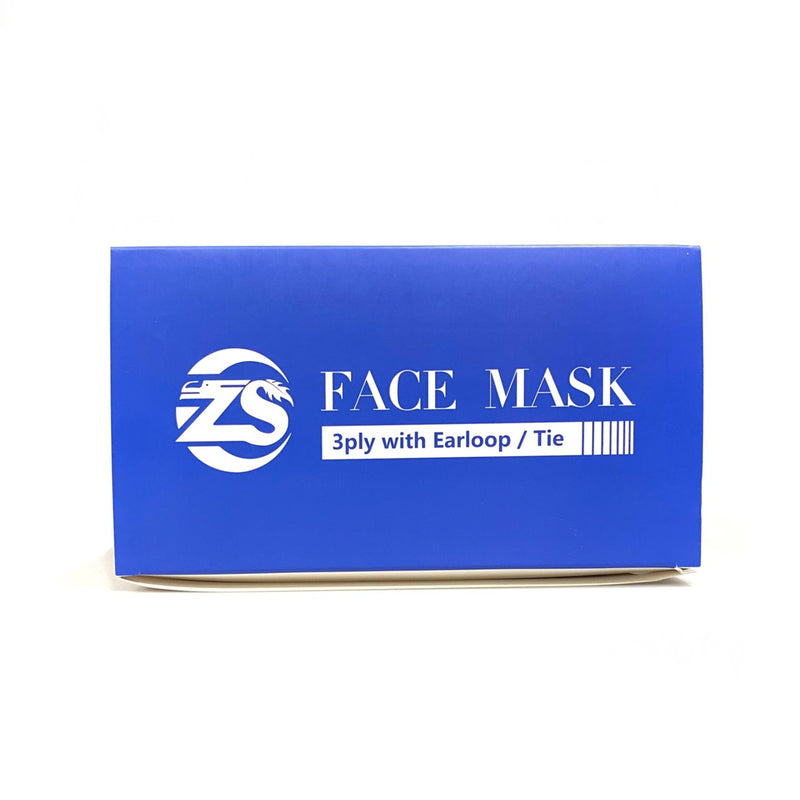 ZS 3PLY FACEMASK WITH EARLOOP