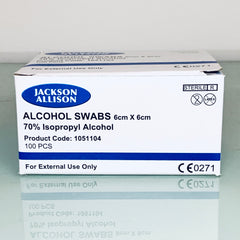 JACKSON ALLISON ALCOHOL SWAB 6x6cm (100PCS)