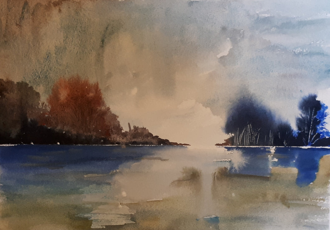 Original Watercolour Painting by Irish Artist Cathal O'Briain. Free P&P with Padded Protection within Ireland.  Comes professionally framed in a new, neutral coloured frame to most styles or settings.