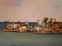 Load image into Gallery viewer, Original Oil Painting of Sandycove, Dublin, by Cathal O'Briain. New high quality neutral coloured frame with glass protection to suit most any room.