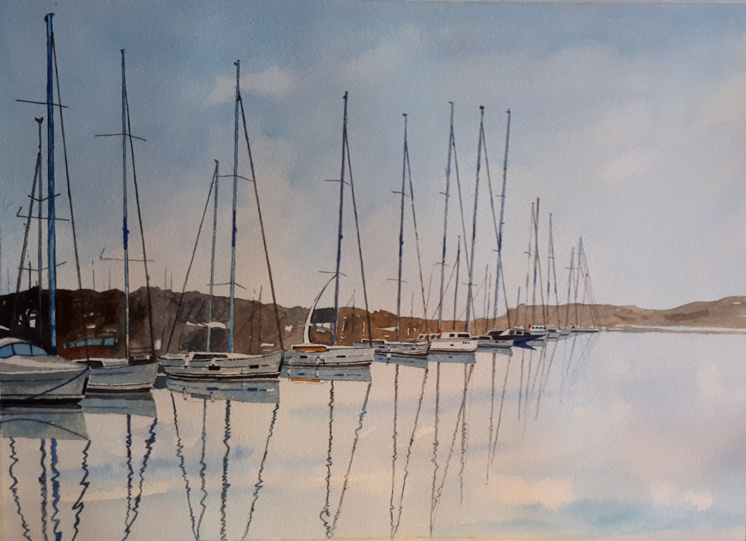Original Watercolour Painting of Sibenik on the Adriatic coast of Croatia, by Irish Artist Cathal O'Briain. Free P&P with Padded Protection within Ireland.