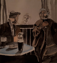 Load image into Gallery viewer, Original Watercolour Irish Pub Scene/Setting, by Irish Artist Cathal O'Briain.