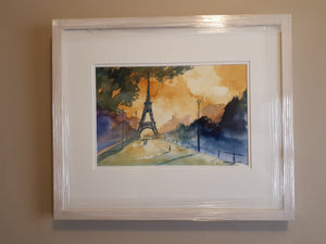 Paris, France (A3 Framed Original)