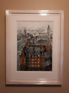 View from St. Patrick's Cathedral, Dublin (A3 Framed Original)