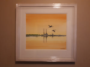 Original Watercolour Painting of the Sandymount, Dublin, Ireland, by Irish Artist Cathal O'Briain.