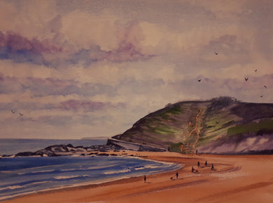 Ballymoney Beach 6, Wexford (A3 Framed Original)