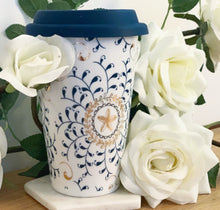 Load image into Gallery viewer, 'Hannah' New Bone China Bohemian Travel Mug