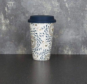 'Hannah' New Bone China Bohemian Travel Mug