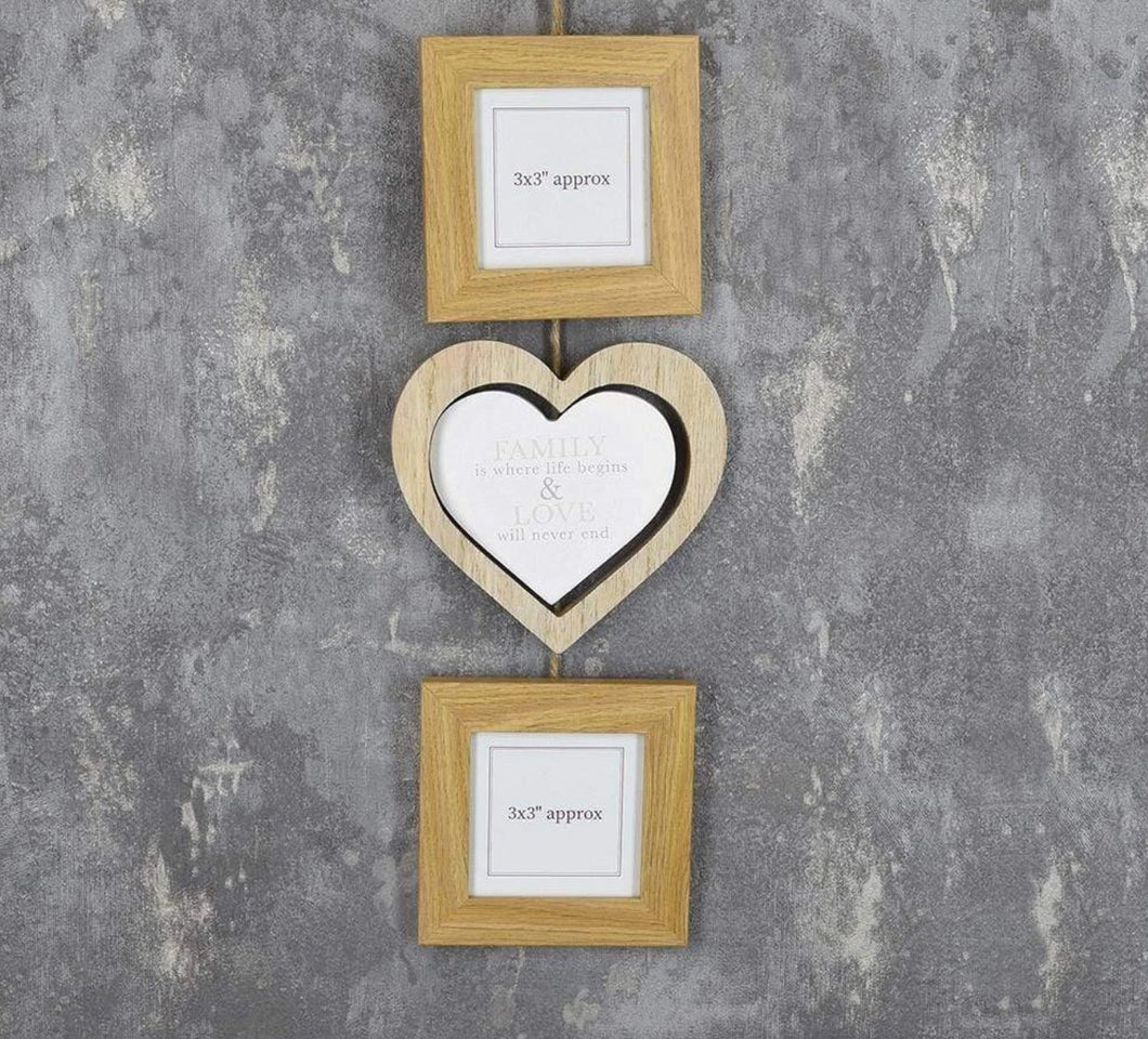 'Family' Double Picture Frame Set