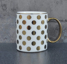 Load image into Gallery viewer, 'Amy' Spotted Gold Mug - Electroplated
