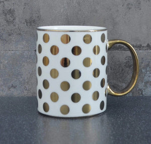 'Amy' Spotted Gold Mug - Electroplated