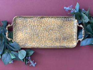 'Josephine' Gold Metal Tray Antique