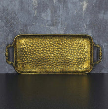 Load image into Gallery viewer, 'Josephine' Gold Metal Tray Antique