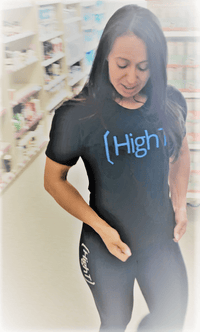 High T Active Shirt Black - HighT Men's or Women's Sizes - High T