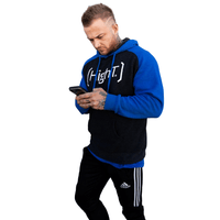 High T Active Hoodie - Universal HighT in Black/Blue or Gray/Black