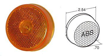 "Truck-Lite 2-1/2"" Reflector/Marker Light, Amber Incandescent."