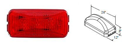 Truck-Lite Led Marker Light Red