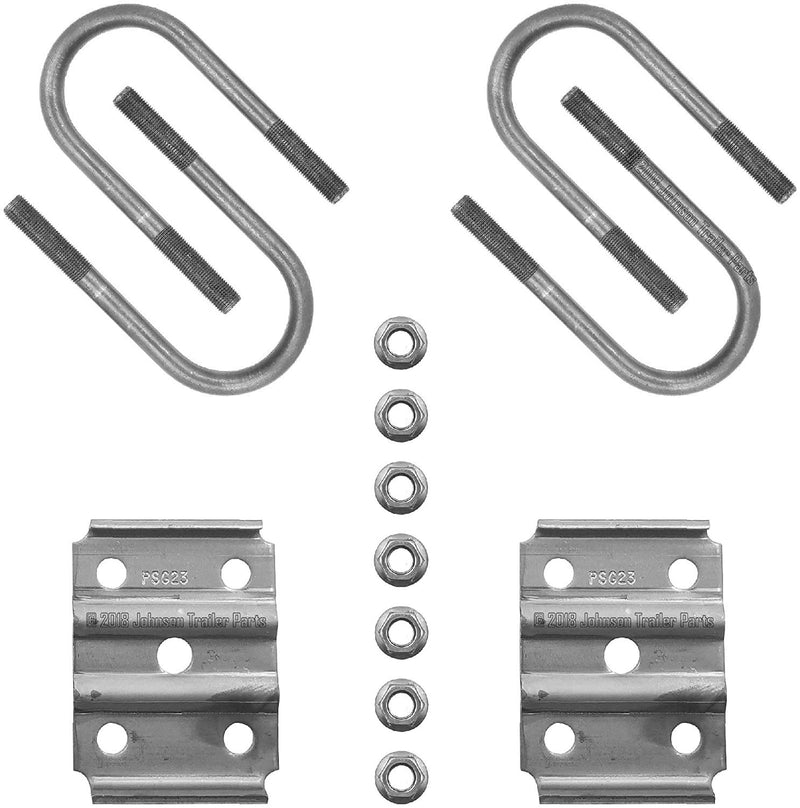 "3,500lb Trailer Axle U-Bolt Kit - Fits 2 3/8 Round Axle x 1.75"" Wide Springs"