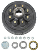 "Dexter 7650045-03B HUB & DRUM KIT 5.2K-7K - FULL GREASED - 8 on 6.5"" bolt pattern. Uses 25580 Inner and 14125A Outer Bearings. 1/2"" studs"