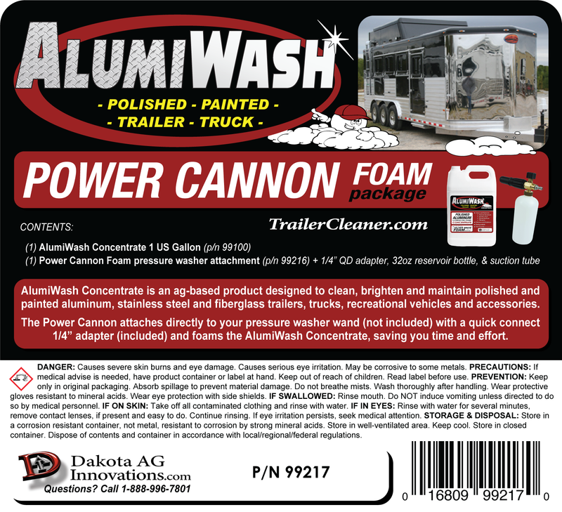 AlumiWash Power cannon Foam Package