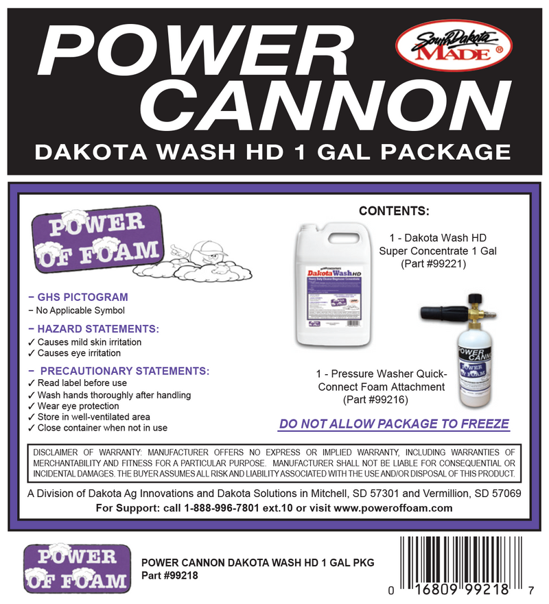 Dakota wash Hd Power Cannon Package