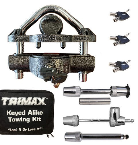 Trailer Coupler Lock Keyed alike kit.